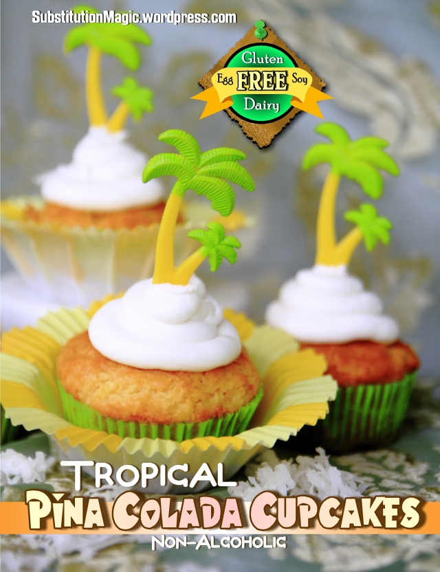 Gluten Free Pina Colada Cupcake