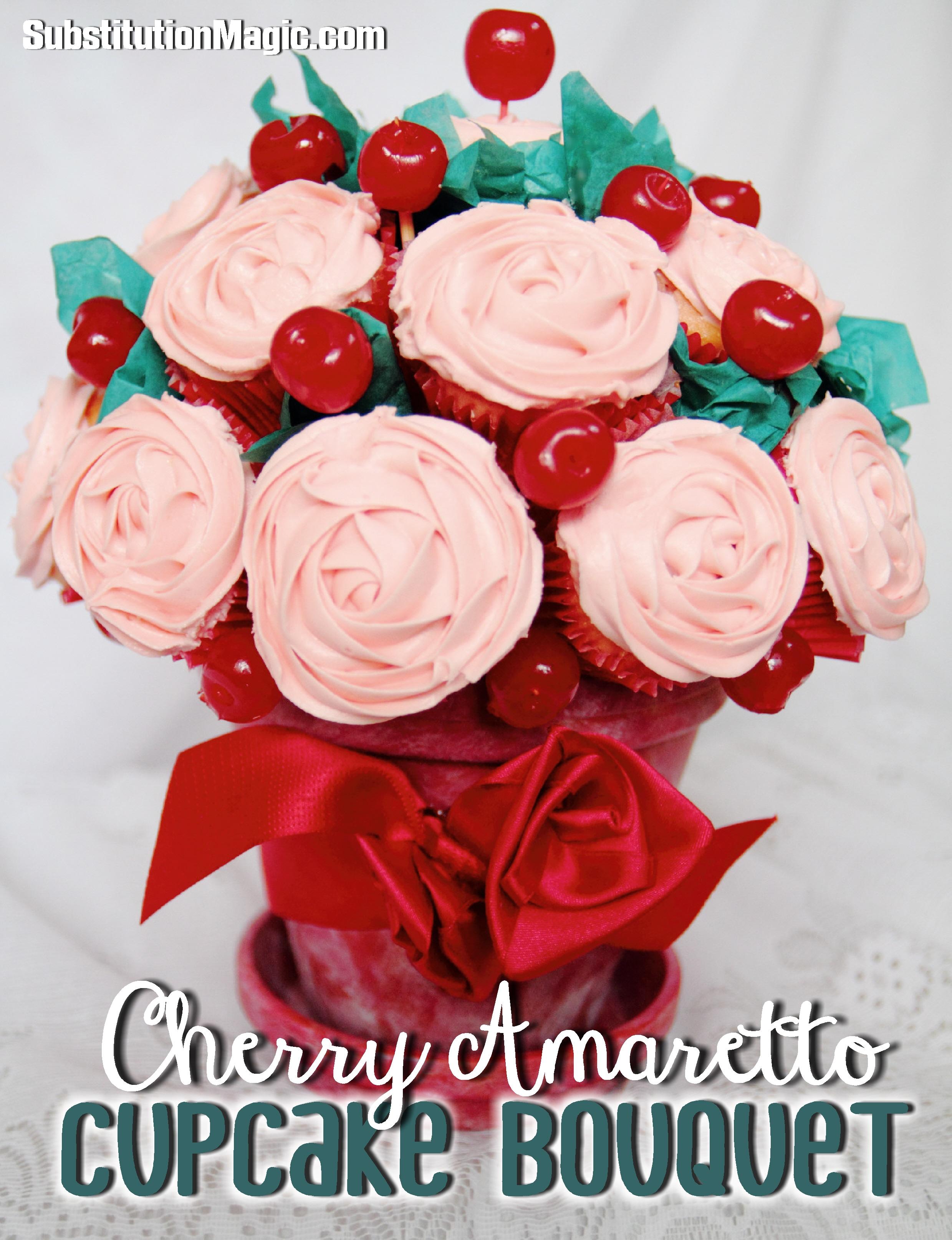 Cherry Amaretto Cupcake Bouquet Gluten Dairy Egg Soy Free