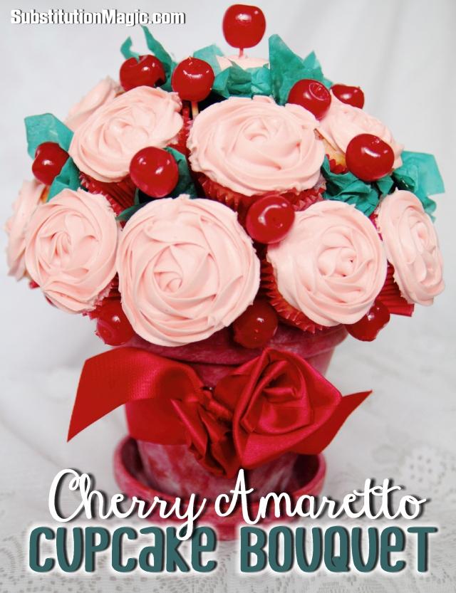 Gluten Free Cherry Cupcake Bouquet